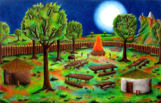 La festa celtica di samhain for Disegni colorati paesaggi